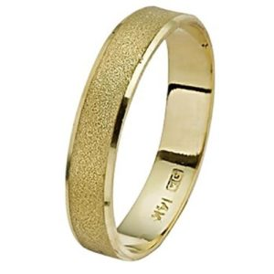 14k Brushed Yellow Gold Wedding Ring - Baltinester Jewelry