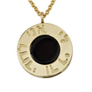 Gold Onyx Ani Ledodi Pendant - Baltinester Jewelry
