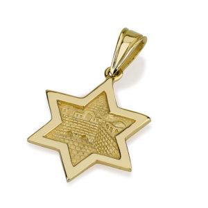 3D Jerusalem Star of David Pendant 14k Gold - Baltinester Jewelry