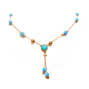 14k Rose Gold & Opal Necklace - Baltinester Jewelry