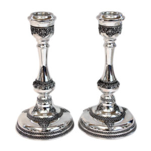 Polished Sterling Silver Candlesticks - Baltinester Jewelry
