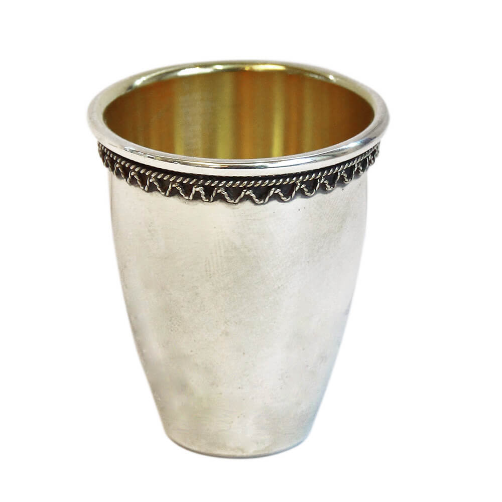 Simple Filigree Silver Liqueur Cup - Baltinester Jewelry