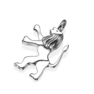 Mini Lion of Judah 14k White Gold Classic Pendant - Baltinester Jewelry