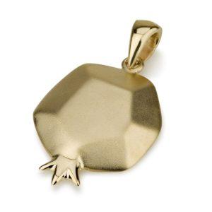 Minimalist Gold Pomegranate Pendant - Baltinester Jewelry