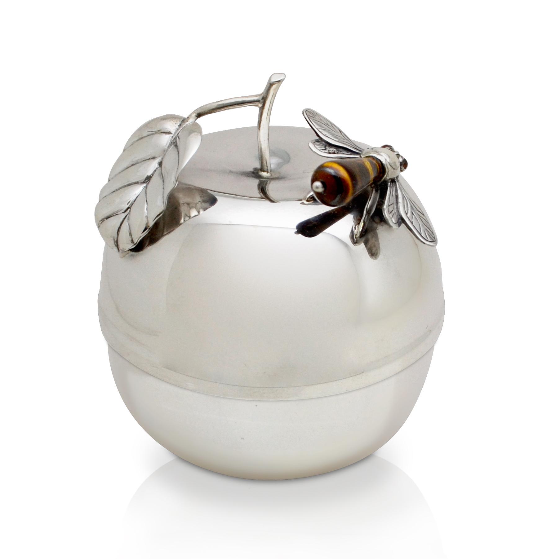 Devash Apple-Shaped Honey Dish - Baltinester Jewelry