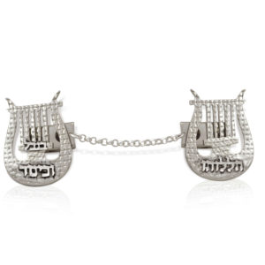 Harp of David Tallit Clip - Baltinester Jewelry