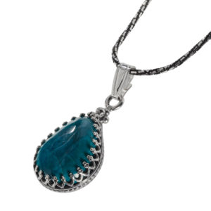 Classic Eilat Stone Drop Silver Pendant - Baltinester Jewelry
