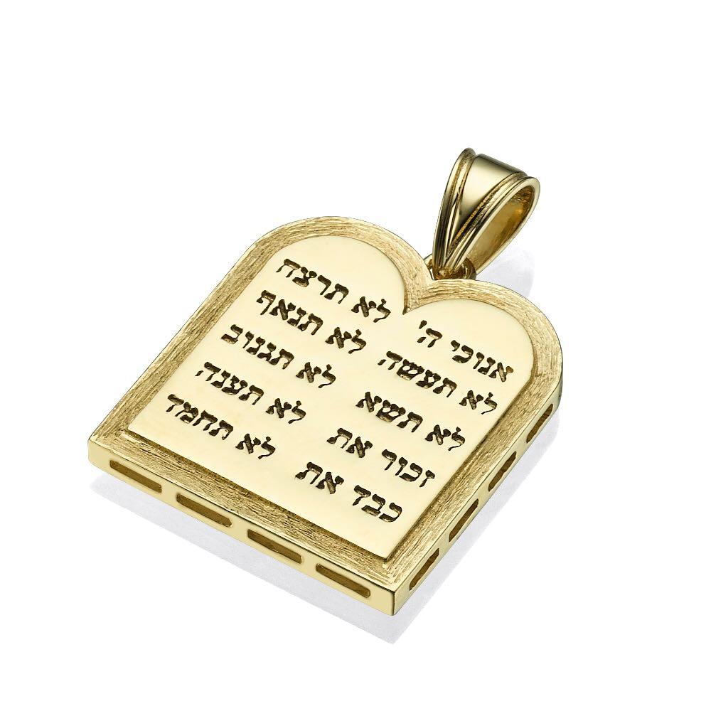 Ten Commandments 14k Yellow Gold Pendant - Baltinester Jewelry