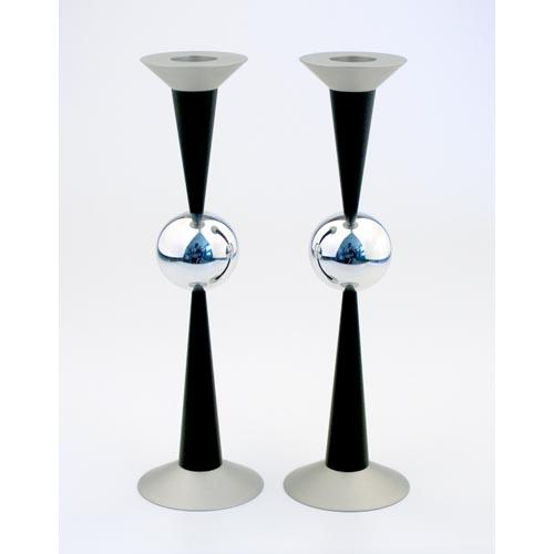 Sphere Design Candle Holders (Large) - Black - Baltinester Jewelry