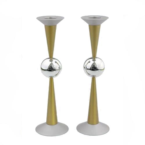 Sphere Design Candle Holders (Large) - Gold - Baltinester Jewelry