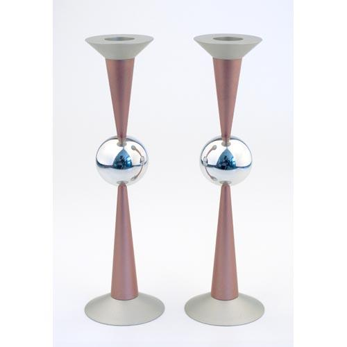 Sphere Design Candle Holders (Large) - Pink - Baltinester Jewelry