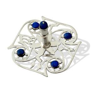 Contemporary Sterling Silver Gemstone Dreidel - Baltinester Jewelry