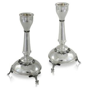Chaya Sterling Silver Candlesticks - Baltinester Jewelry