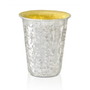 Gideon Hammered Silver Kiddush Cup - Baltinester Jewelry