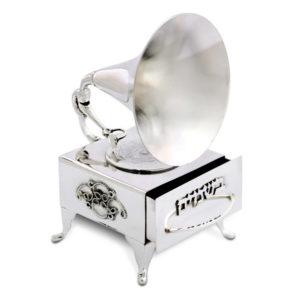Gramophone Silver Besamim Spice Box - Baltinester Jewelry