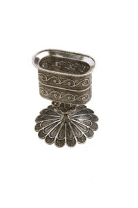 Sterling Silver Filigree Havdalah Candle Holder - Baltinester Jewelry