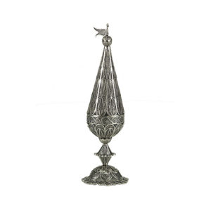 Sterling Silver Cone Besamim Holder for Havdala - Baltinester Jewelry