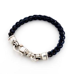 Blue Titanium Bracelet With Silver Clasp - Baltinester Jewelry