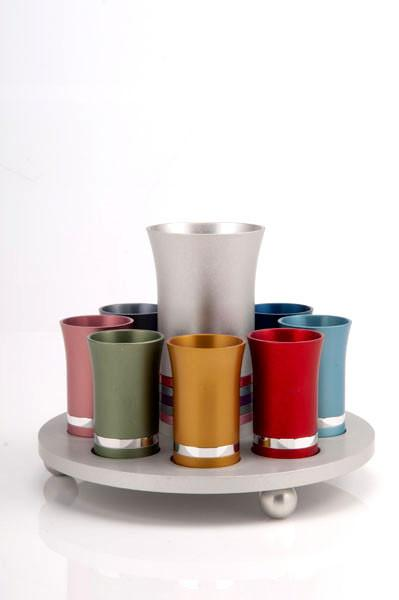 Kiddush Cup Set for 8 - Multi - Baltinester Jewelry