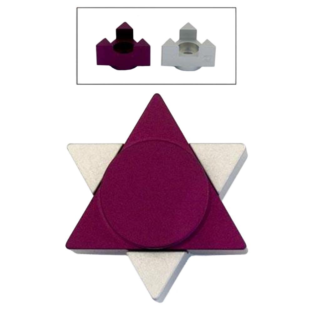 Magen David Travel Candle Holders - Purple - Baltinester Jewelry