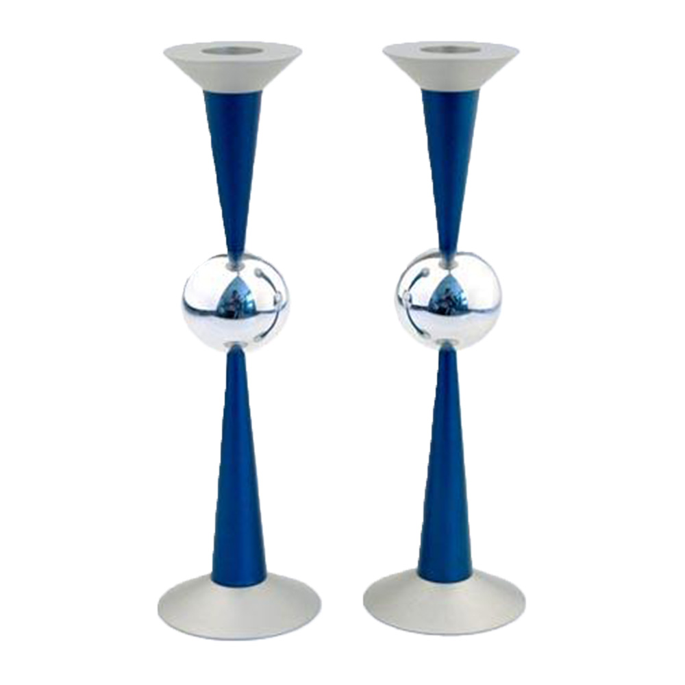 Sphere Design Candle Holders (Large) - Blue - Baltinester Jewelry