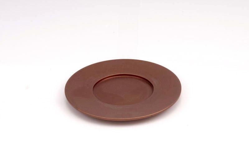 Single Kiddush Cup Plate - Brown - Baltinester Jewelry