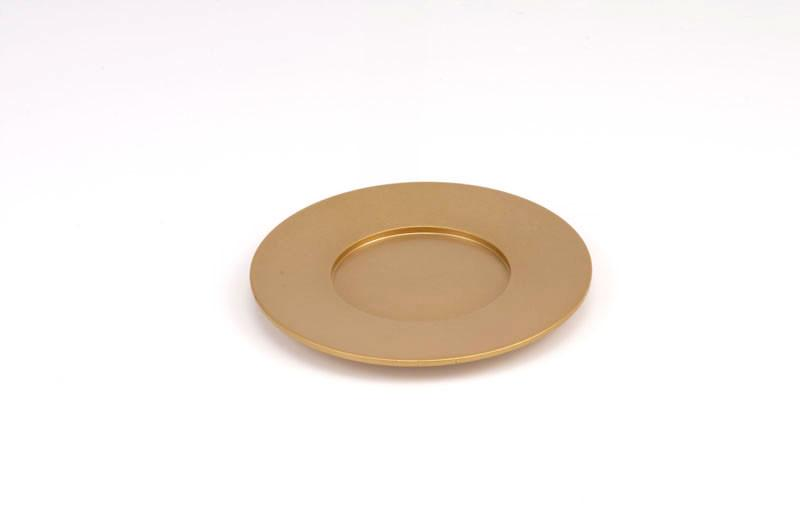 Single Kiddush Cup Plate - Gold - Baltinester Jewelry