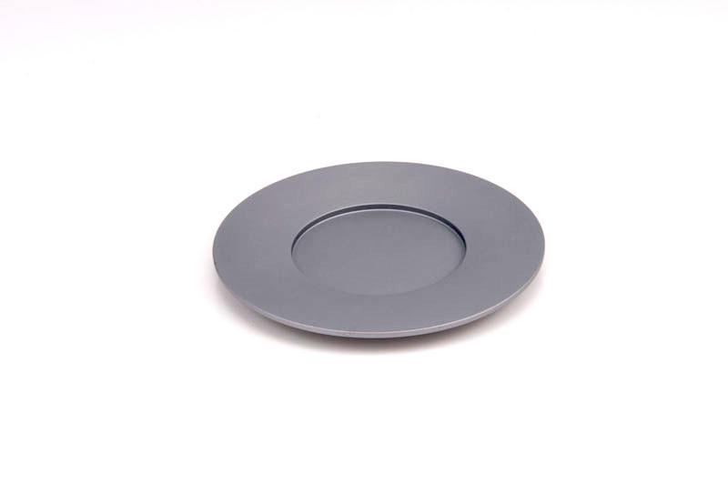 Single Kiddush Cup Plate - Gray - Baltinester Jewelry
