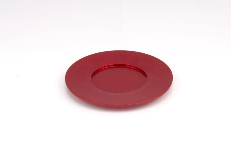 Single Kiddush Cup Plate - Red - Baltinester Jewelry