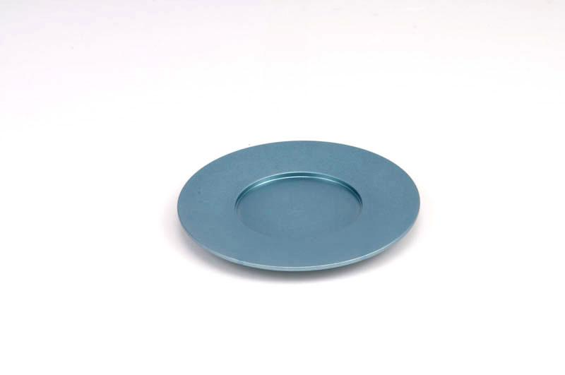 Single Kiddush Cup Plate - Teal - Baltinester Jewelry