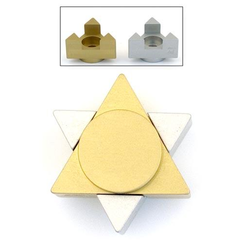 Magen David Travel Candle Holders - Gold - Baltinester Jewelry