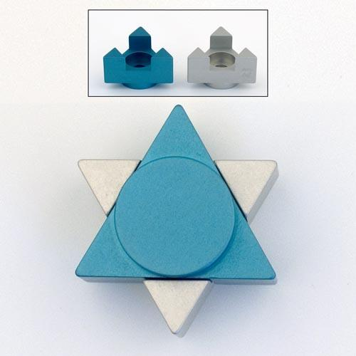 Magen David Travel Candle Holders - Teal - Baltinester Jewelry