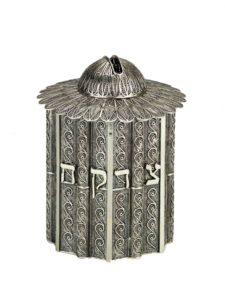 Round Filigree Sterling Silver Tzedakah Box - Baltinester Jewelry