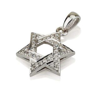 18k Gold Diamond Star of David Pendant - Baltinester Jewelry