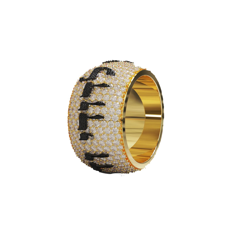 Iced Diamond Ani Ledodi Wedding Ring 2 - Baltinester Jewelry