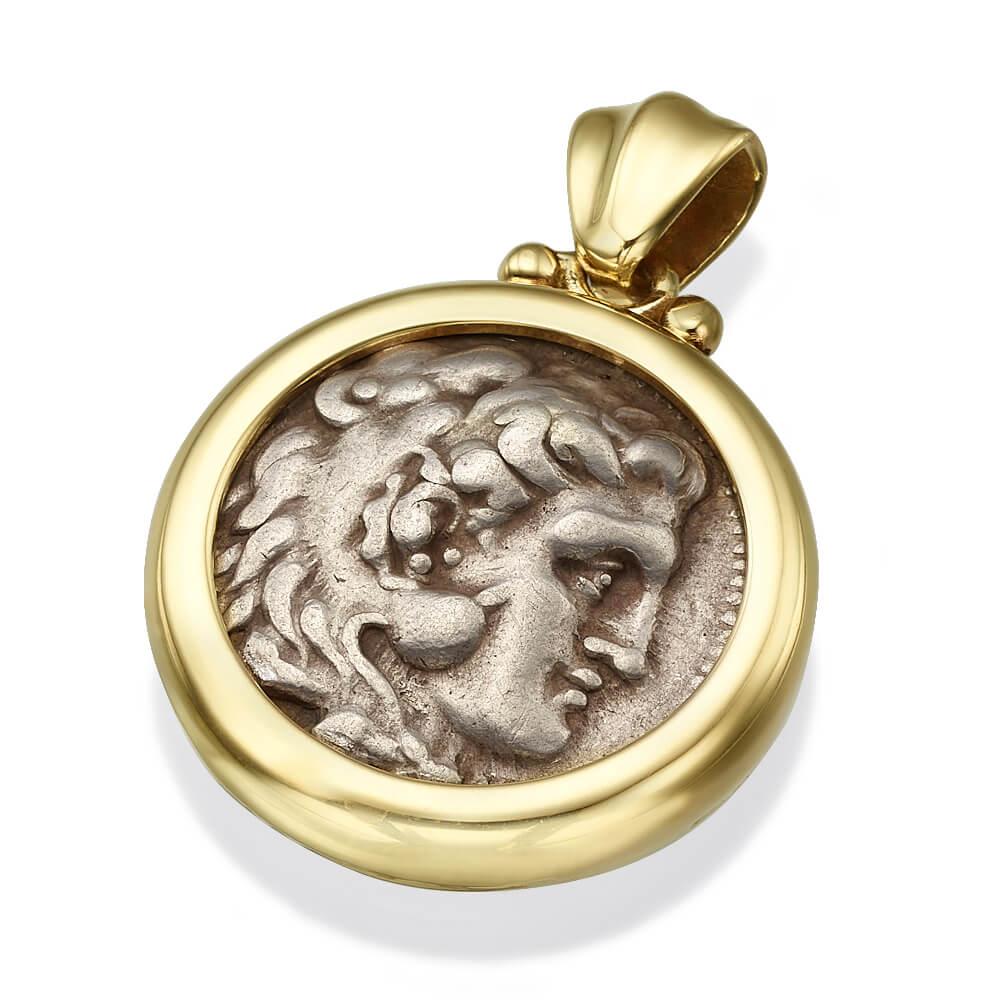 alexander coin gold pendant
