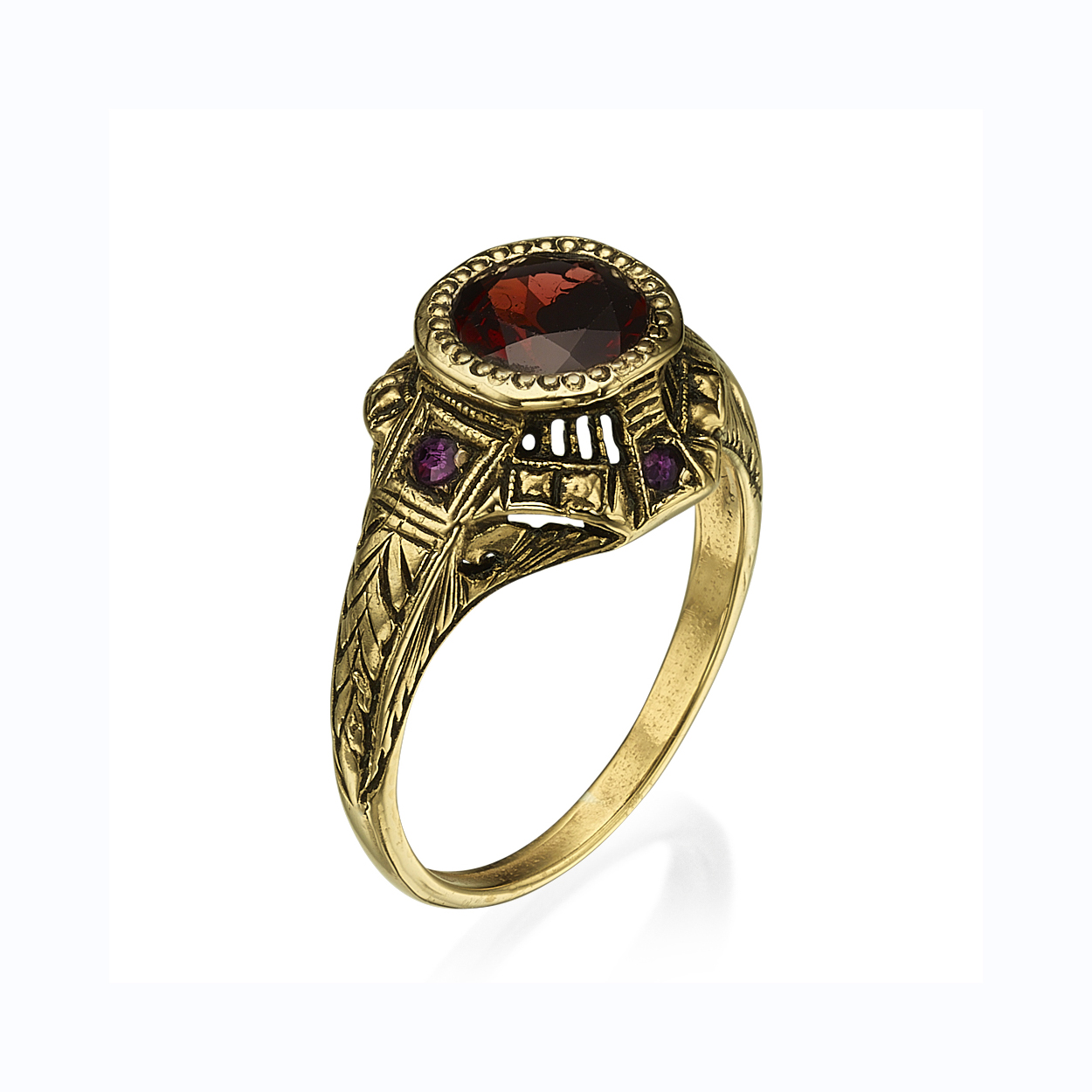 Baroque Garnet and Ruby Ring - Baltinester Jewelry