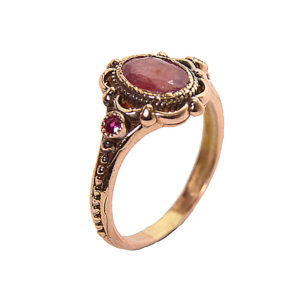Rose Gold Ruby Cocktail Ring - Baltinester Jewelry