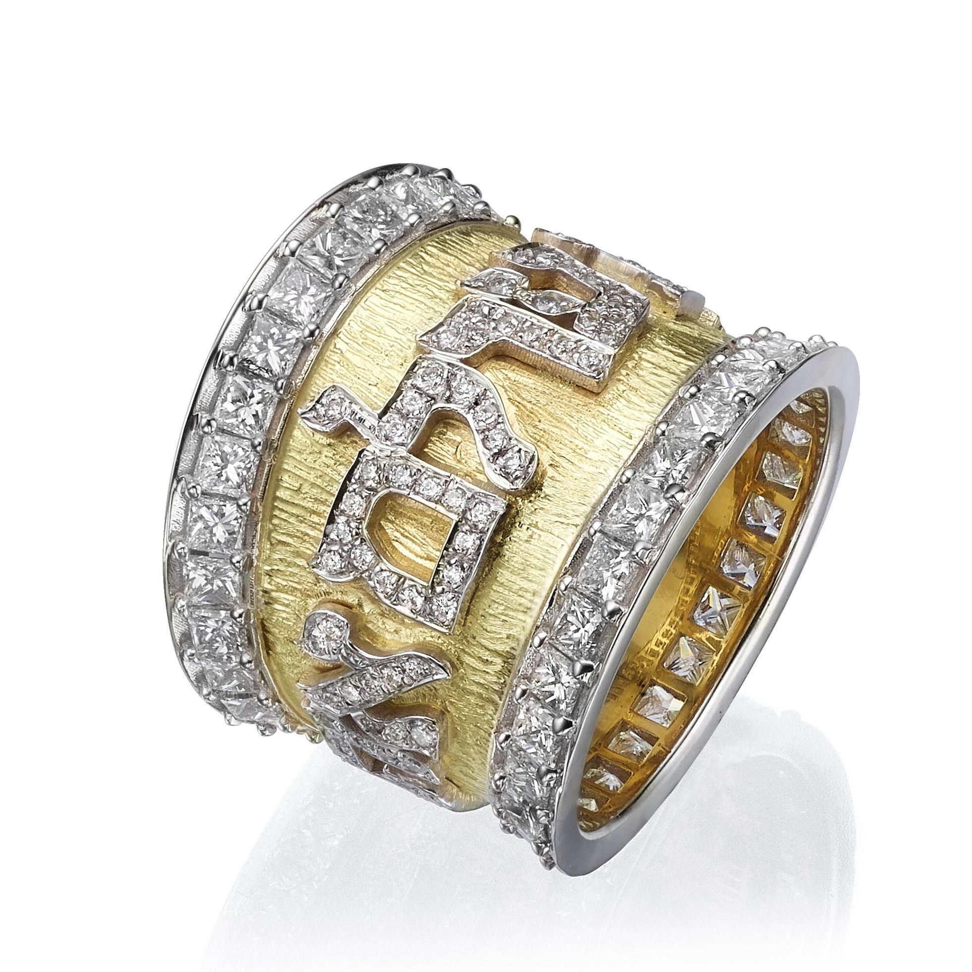 tapered diamond wedding band
