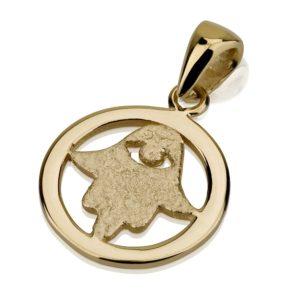 Encircled Hamsa Evil Eye 14k Gold - Baltinester Jewelry