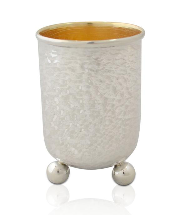 Ne'vo Hammered Silver Kiddush Cup - Baltinester Jewelry
